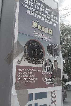 La Petita: poster special event live entertainment la petitia restaurante puerto morelos