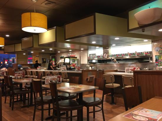 The counter inside Denny's in Marysville