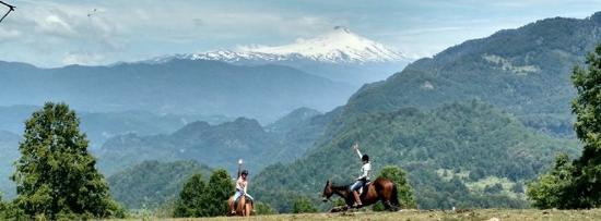 Curarrehue, Cile: Senderos inmersos en la cordillera de los Andes, recorriendo bosques nativos, montañas y volcane