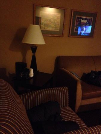 Comfort Suites Wisconsin Dells Area: Nice little sitting are in the room. Great for a quick nap, lol.