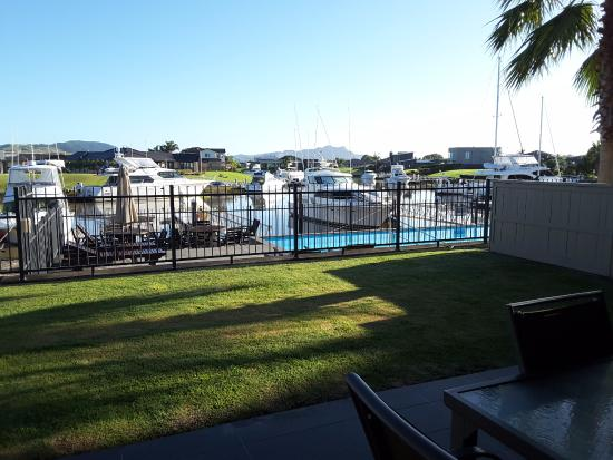 Sovereign Pier on the waterways: View from patio