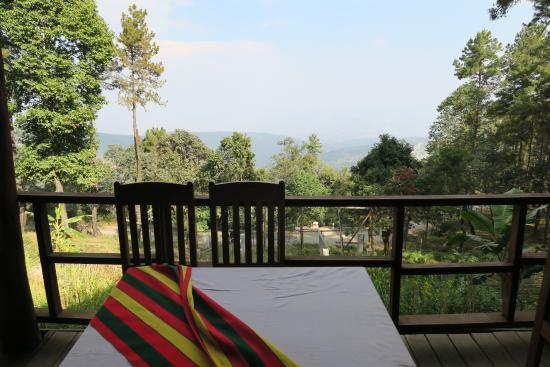 view from the restaurant picture of pine wood villa kanpetlet rh tripadvisor com
