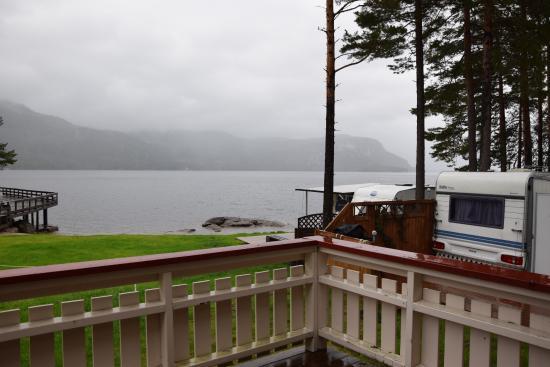 Byglandsfjord, Noruega: view from hytter