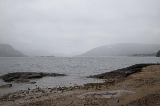 Byglandsfjord, Noruega: beach at neset camping