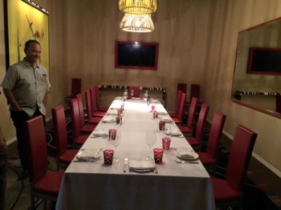 Private dining room picture of giada las vegas tripadvisor - Las vegas restaurants with private dining rooms ...
