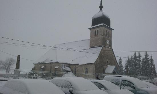 vue de chapelle des bois sous la neige Foto di Chapelle des Bois, Doubs TripAdvisor # Hotel La Chapelle Des Bois