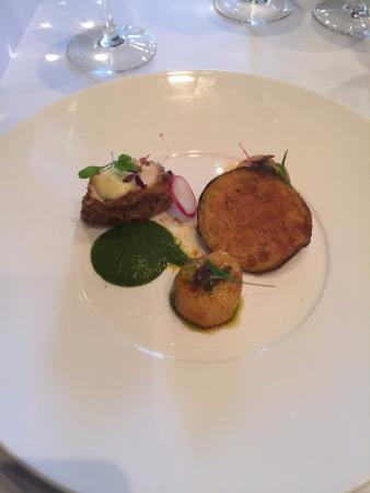 Pan fried Scallops, Chicken, Chill Chutney and Mango Coulis - Picture ...
