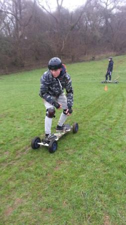 Board Riding Development Mountain Boarding Centre: Mountain boarding at Weobley