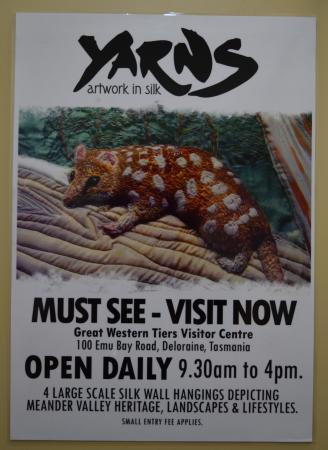 Deloraine, Australia: Poster for - Yarns Artwork in Silk