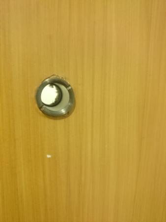 Exceptional Prince Hotel: Door Peephole Broken And Now Consists Of An Actual Hole!