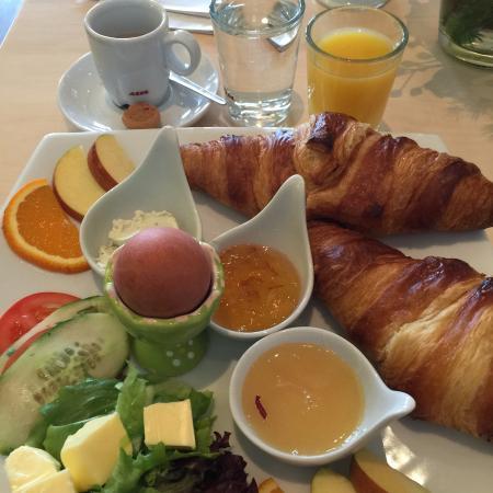 Großartiges Frühstück Restaurant Speisesaal In Der