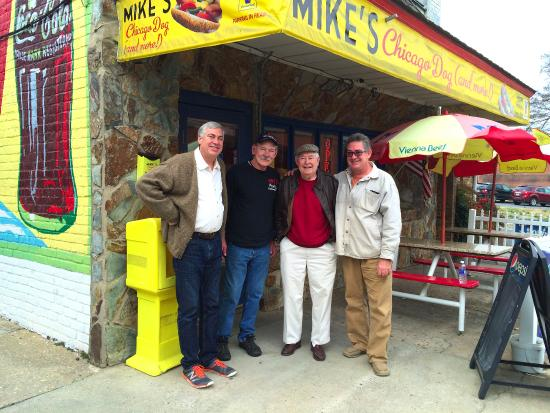Mike's Chicago Dog (and more!): Well worth our drive from Raleigh -- thanks Mike Jones!