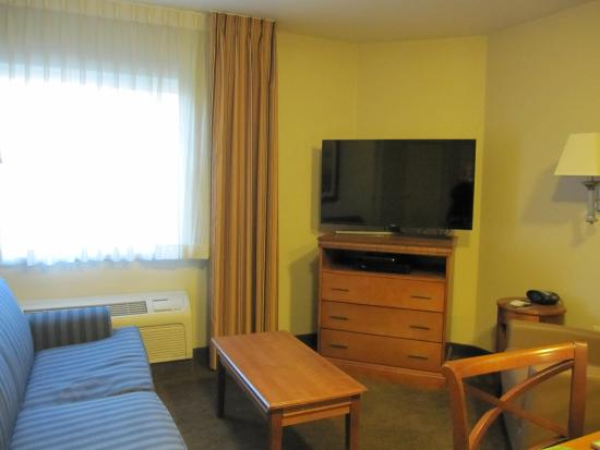 Candlewood Suites Boise: The living room