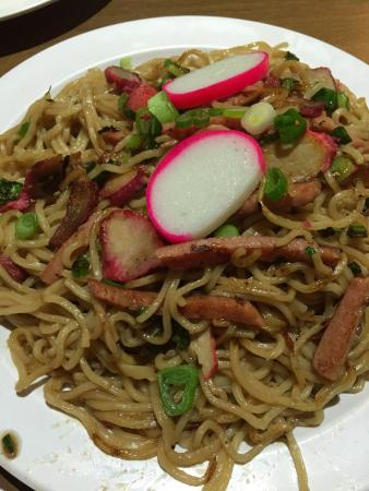 Fried noodles with char siu pork - Picture of Island Flavor