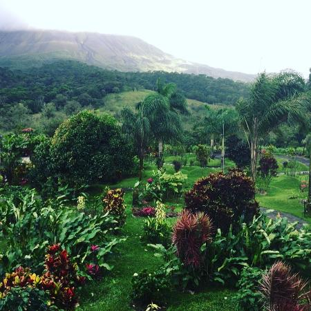 Arenal Kioro: view from room, although volcano was obscured by clouds