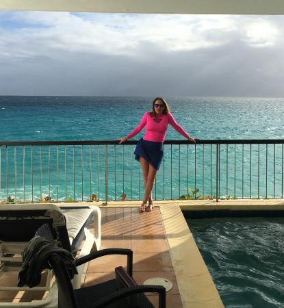Cupecoy Bay, St. Martin: Looking out from Villa