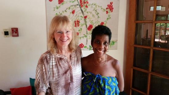 Moriah, Tobago: Kathy & Regina, our most gracious hostess.