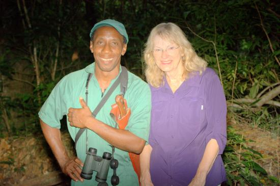 Moriah, Tobago: Our guide Desmond and Kathy on the mountain trail.