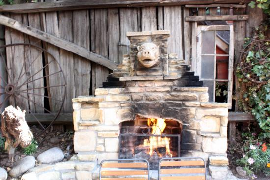 outdoor patio fireplace picture of hog s breath inn carmel rh tripadvisor com