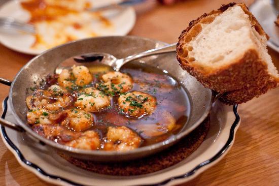 Gambas al Ajillo - Shrimp, garlic, brandy, and Guindilla pepper in ...