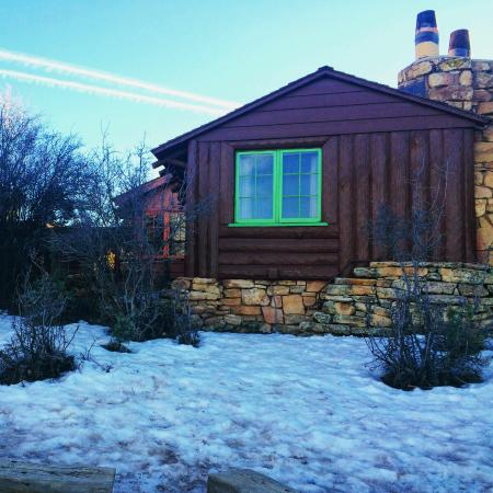 cabin with fireplace. Bright Angel Lodge  Our rim cabin with fireplace Picture of