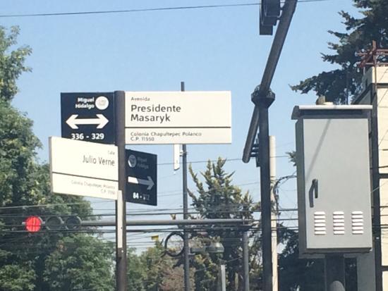 Avenida Presidente Masaryk in Polanco