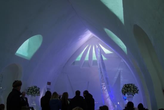 Hotel De Glace Wedding At The Ice Chapel