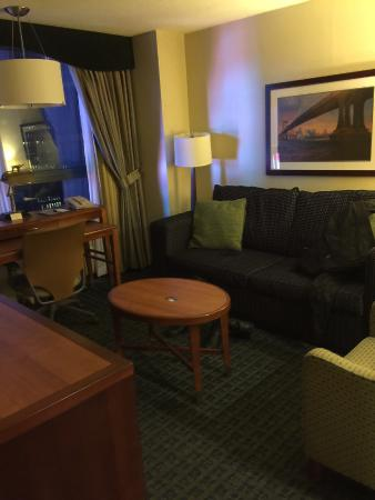two tvs sofa makes into a bed kitchenette in this room picture rh tripadvisor com