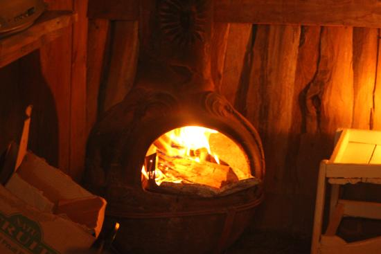 Lagunillas Lodge: Cute chiminea, kinda chilly at night, and very pretty.