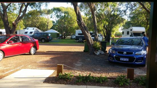 RAC Busselton Holiday Park: view from our door