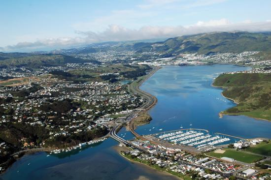 Aerial view of Porirua City