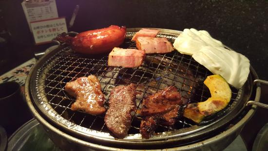 Charcoal fire grilled meat Ushinoya