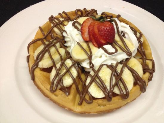 Trail, Canadá: Banana-nutella waffle
