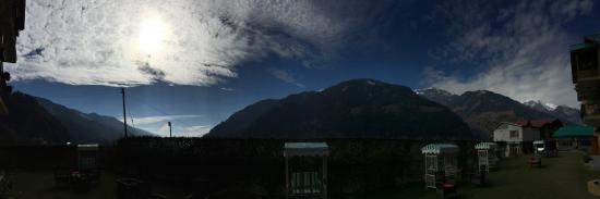 Panoramic view shot from the sit out in ground floor villa