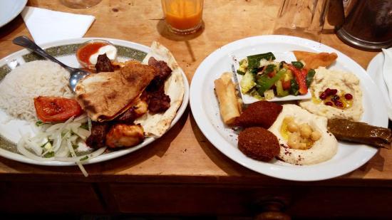 Assaha Lebanese Restuarant: Meza and mixed meats