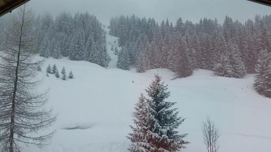 Le Jaillet Ski Area: panorama sotto la nevicata
