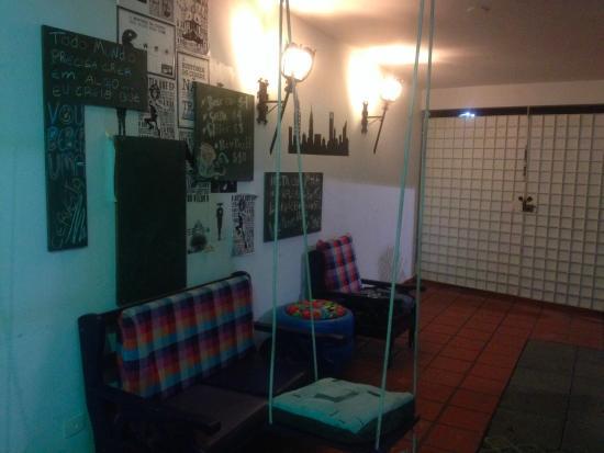 Purple House Hostel: Reception area