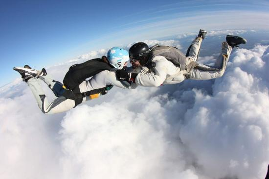 Skydive Langar: Our Valentine's Day jump together