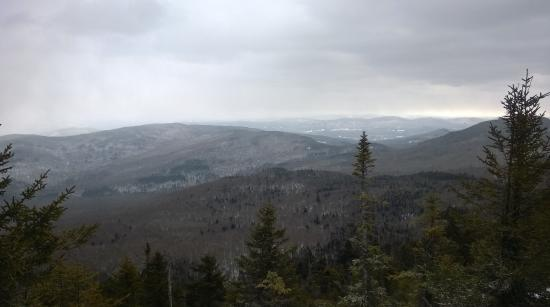 Waterbury, VT: A shot from lower down on the hike, not the summit.