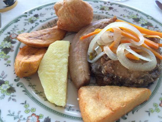 Escovitch Fish With Yam Boiled Banana Plantain Dumpling