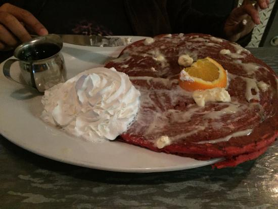 Hash House a Go Go: Red velvet pancakes