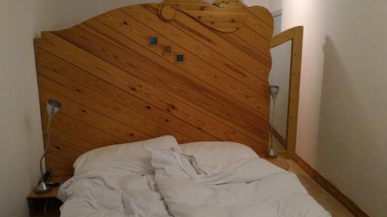 Hotel San Carlo Garni: Prima di lasciare la stanza - letto