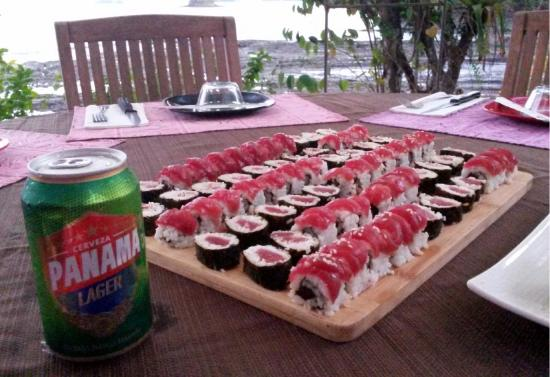 Golfo de Chiriqui National Park, Panamá: Sushi served oceanside!