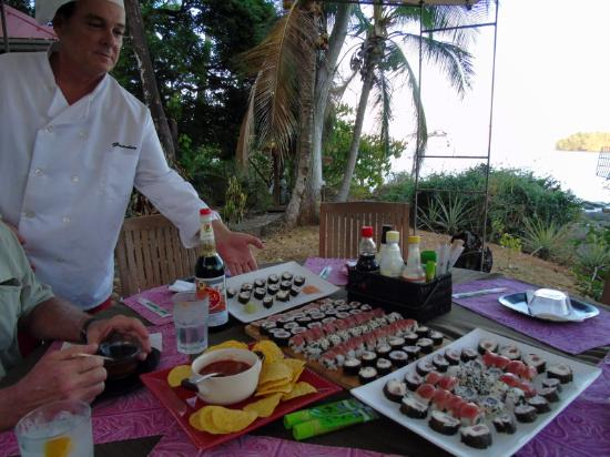 Golfo de Chiriqui National Park, Panamá: Chef Mark aims to please!