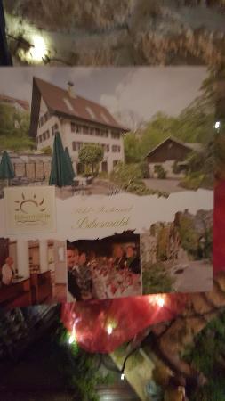Tengen, เยอรมนี: Folheto do restaurante
