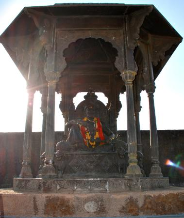 This The Statue Of Shivaji Maharaj On The Place Where His
