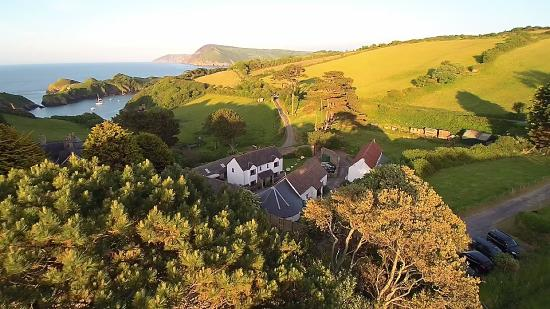 Widmouth Farm Cottages: Aerial View