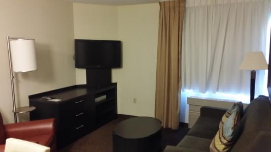 Candlewood Suites Chicago/Naperville: Lounging area in the Room w/Sofa Sleeper