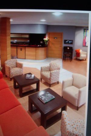 Hotel Balcon de San Bartolo: Recepción y cafetería
