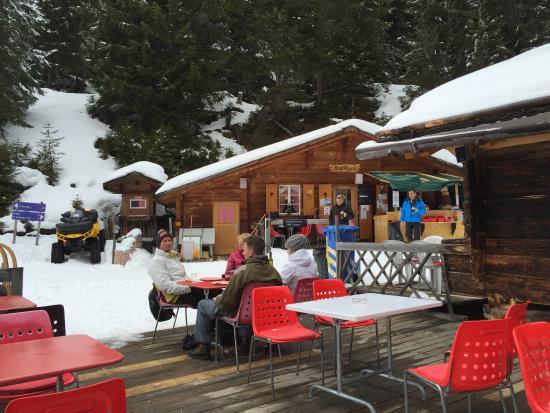 Grindelwald, Ελβετία: Restaurant Rasthysi auf dem Weg von Bussalp nach Bort.